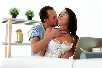 Beautiful Babe Seduced on Camera